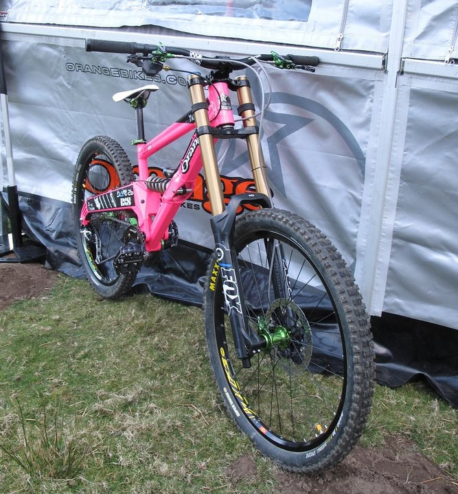 Prototype Orange DH Frame (322) - bturman - Mountain Biking Pictures - Vital MTB