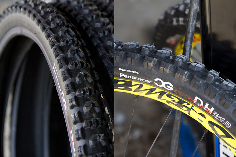 CG's Prototype Tire - Pits Bits: 2011 Fort William World Cup - Mountain Biking Pictures - Vital MTB