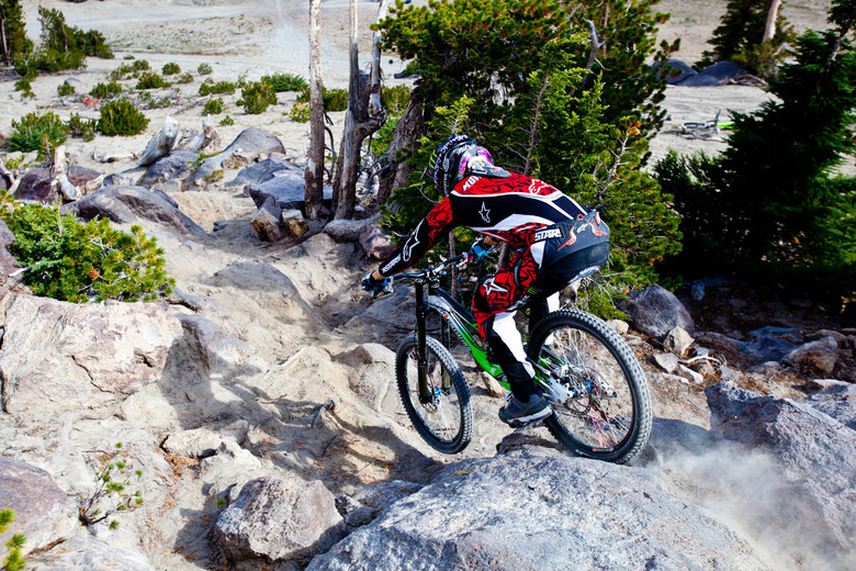 Mike Montgomery at Mammoth Mountain - Mike Montgomery Riding Mammoth Mountain on a Specialized Demo 8 - Mountain Biking Pictures - Vital MTB