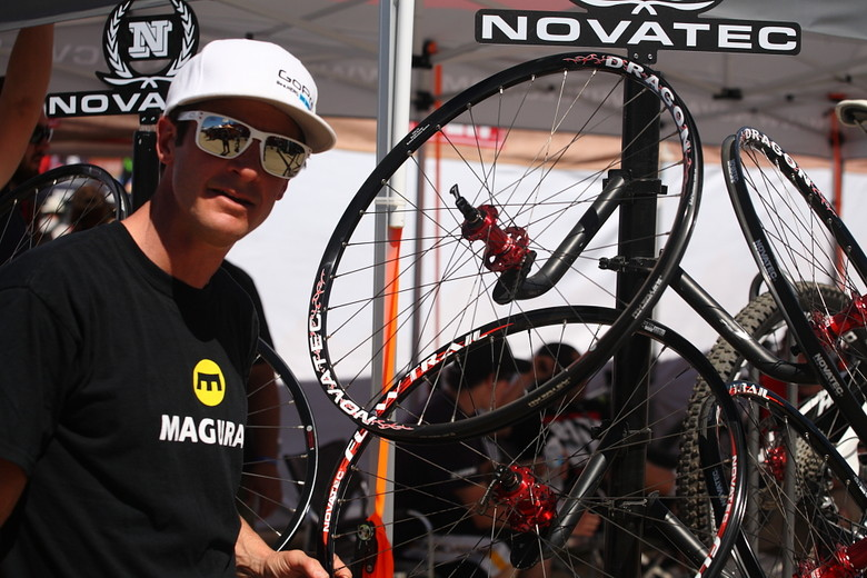 Brian Lopes at Novatec - Sea Otter Classic Pit Bits - Day 3 - Mountain Biking Pictures - Vital MTB
