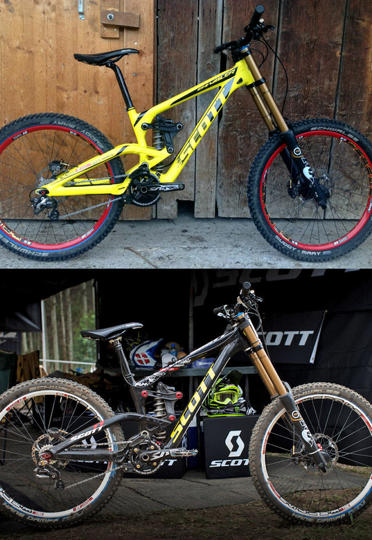 New and Old Scott Gambler Prototypes - Brendan Fairclough's Updated Scott Gambler Prototype - Mountain Biking Pictures - Vital MTB