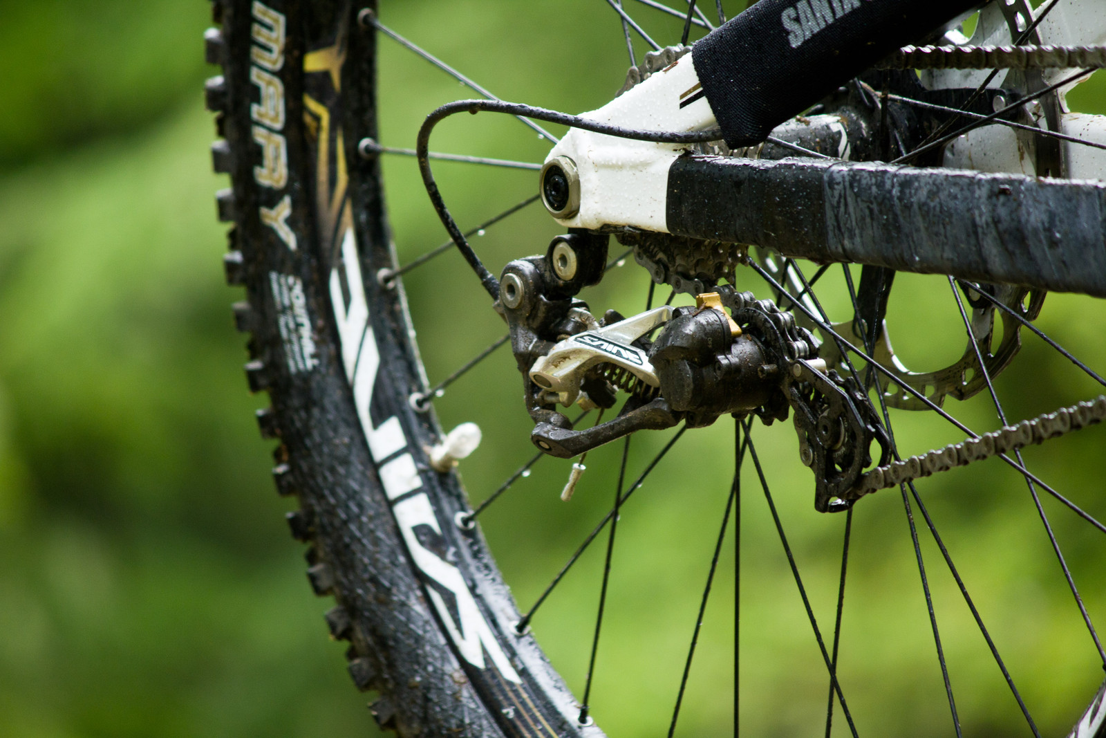 Shimano Saint RD-M820 Short Cage Derailleur - First Look: Vital's Pre-Production Shimano Saint Equipped V-10 Carbon - Mountain Biking Pictures - Vital MTB