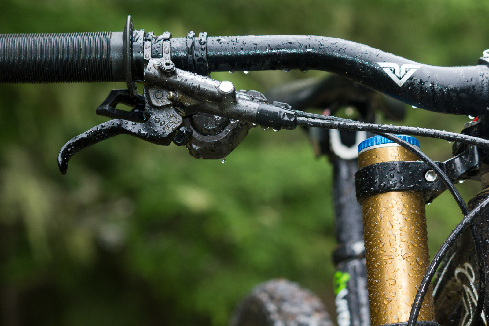 Shimano Saint M820 Brake Lever - First Look: Vital's Pre-Production Shimano Saint Equipped V-10 Carbon - Mountain Biking Pictures - Vital MTB