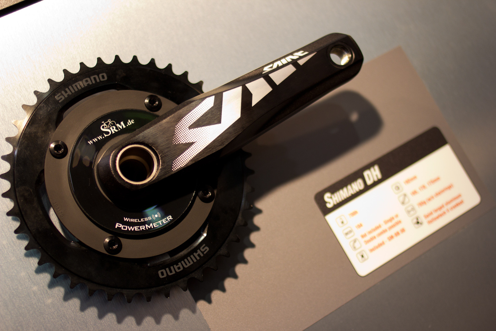 SRM Power Meter on Shimano Saint - 2013 Products from Interbike 2012, Part 2 - Mountain Biking Pictures - Vital MTB