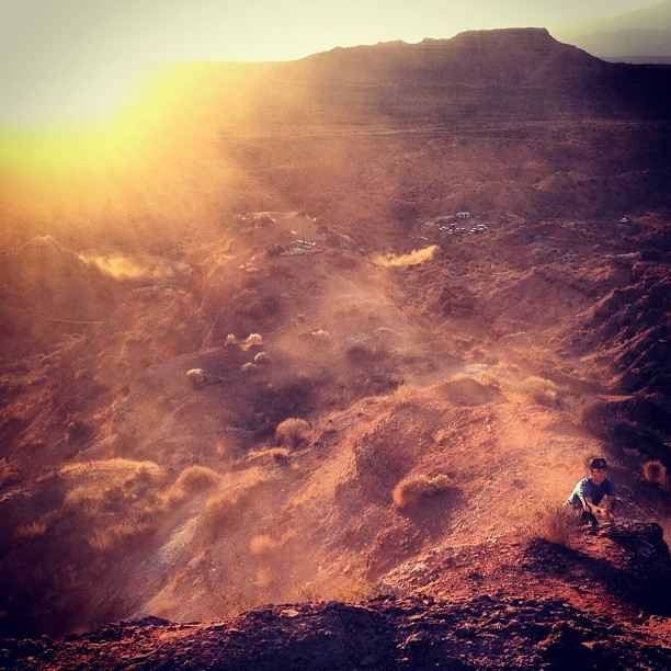 First build day out at Rampage today! So pumped to be back out here again...  - Red Bull Rampage 2012 from the Rider's Perspective - Mountain Biking Pictures - Vital MTB