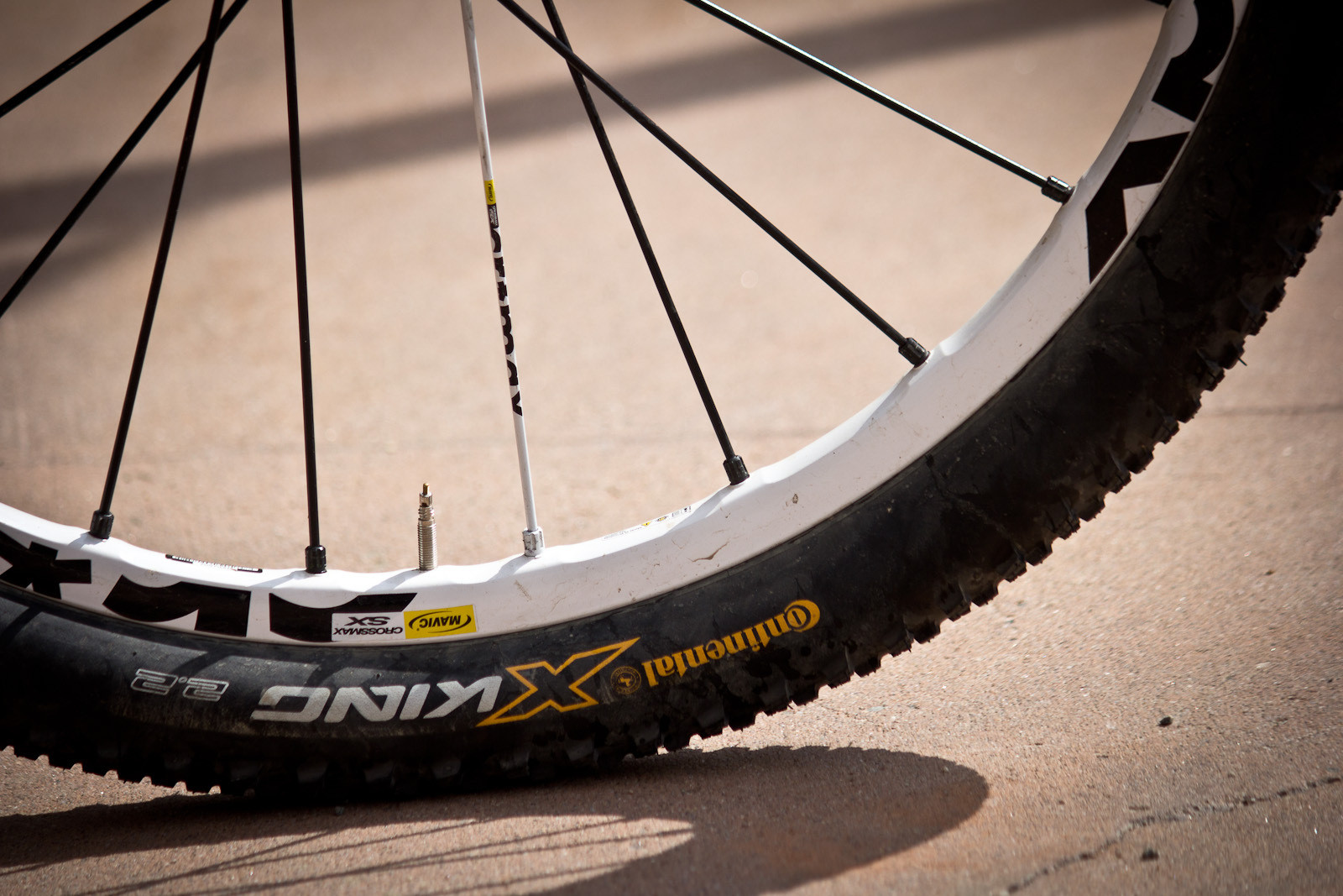 Conti X King Tires, Mavic Crossmax SX Wheels - Winning Bike: Martin Söderström's Specialized P.Slope - Mountain Biking Pictures - Vital MTB
