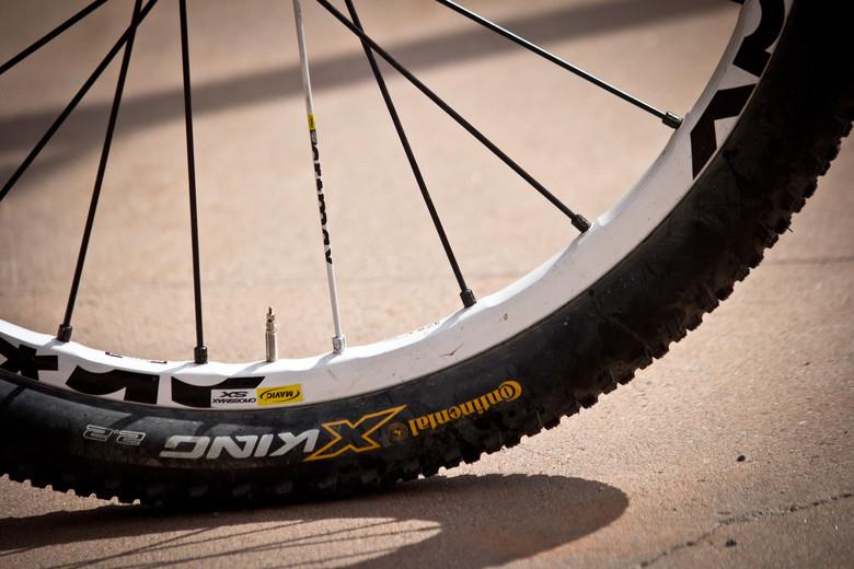 Conti X King Tires, Mavic Crossmax SX Wheels - Winning Bike: Martin Söderström's Specialized P.Slope - Mountain Biking Pictures - Vital MTB