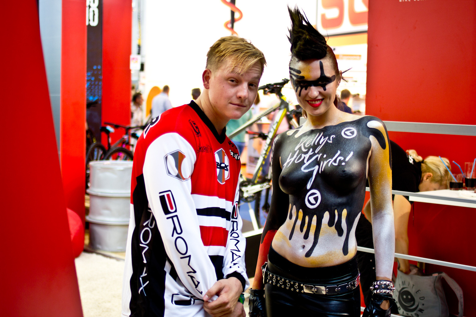 Visser's Blue Steel Meets Kelly's Hot Girls - Randoms at Eurobike 2013 - Mountain Biking Pictures - Vital MTB