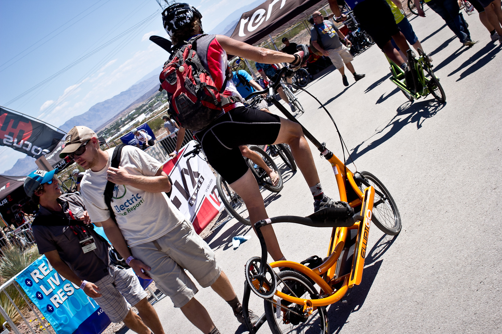 Elliptical Bike - INTERBIKE: Part 1 - Outdoor Demo Rad Bits & Randoms - Mountain Biking Pictures - Vital MTB