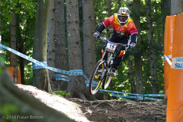 Mitch Delfs at Maribor - 2011 Pivot Phoenix DH Bike - Mountain Biking Pictures - Vital MTB