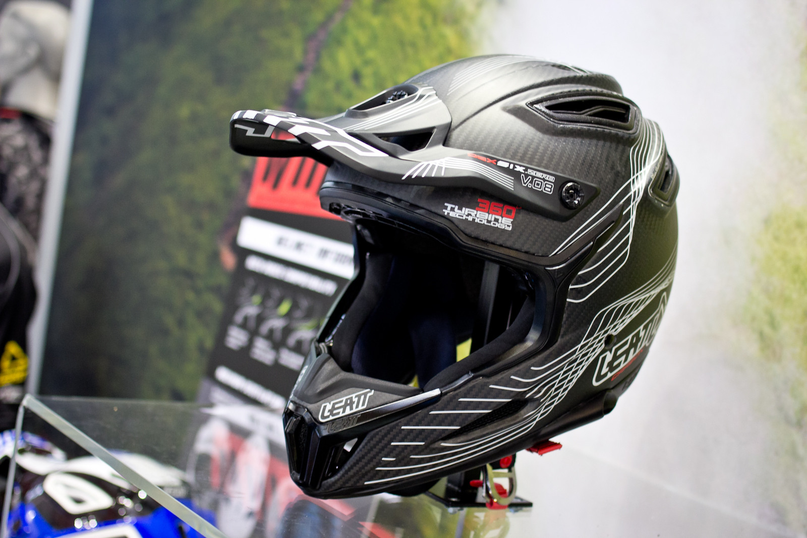 Leatt DBX 6.5 V10 Carbon Helmet - 2015 Mountain Bike Apparel & Protection at Eurobike 2014 - Mountain Biking Pictures - Vital MTB