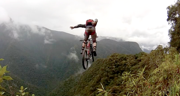 Top Mountain Bikes >> Base Jumping a Bike Off the World's Most Dangerous Road ...