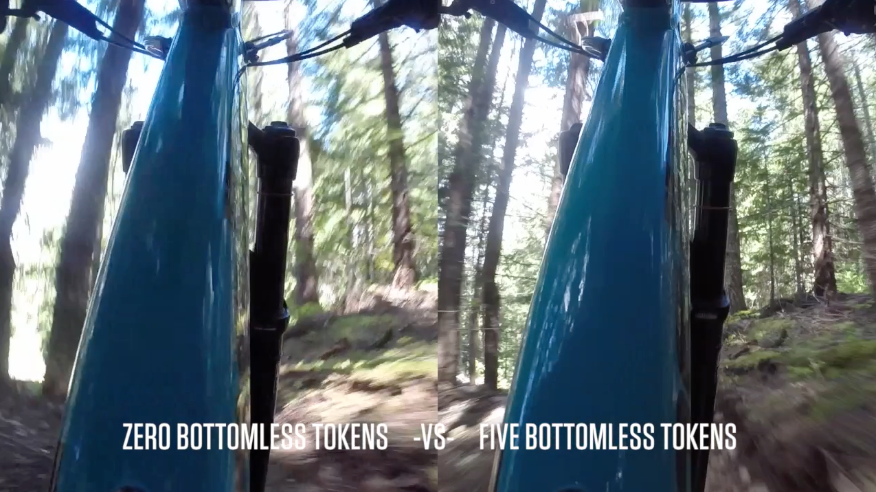 Video Comparison of RockShox Bottomless Tokens in a Pike