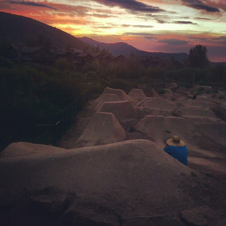 Park City Dirt Jump Sunset  - MrDammack - Mountain Biking Pictures - Vital MTB