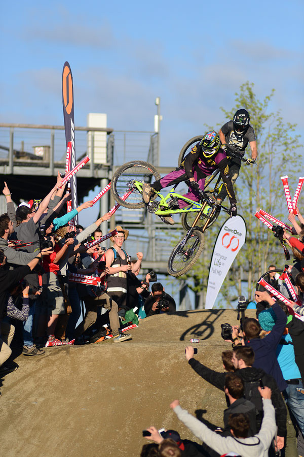 Brendan Fairclough and Sam Reynolds at Dirt Masters Whip Off 2 of 3 - NorbertSzasz - Mountain Biking Pictures - Vital MTB