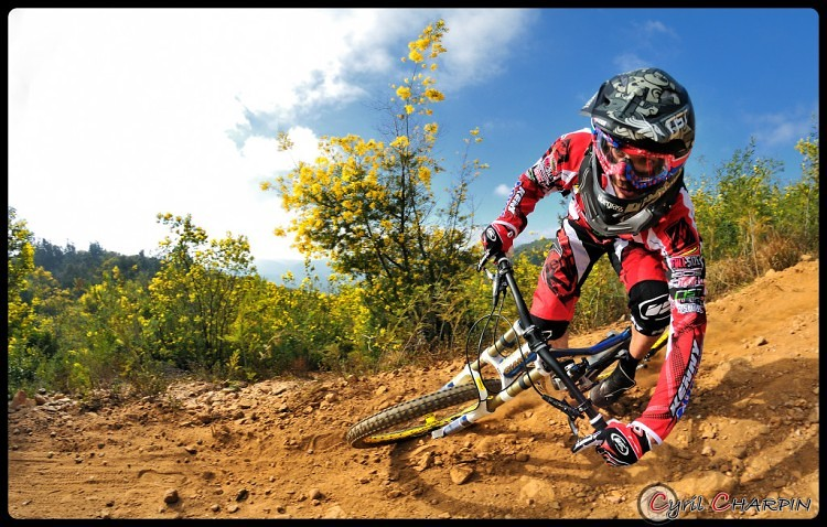 Leaning In... - Cyril Charpin - Mountain Biking Pictures - Vital MTB