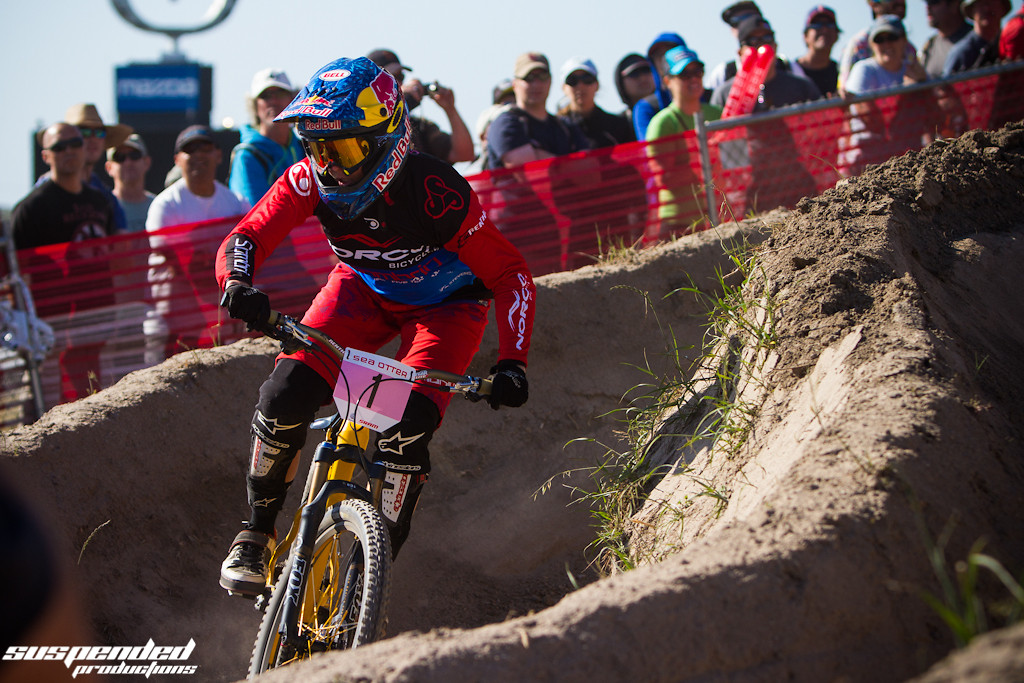 Jill Kintner Winning the 2013 Sea Otter Dual Slalom - suspended-productions - Mountain Biking Pictures - Vital MTB