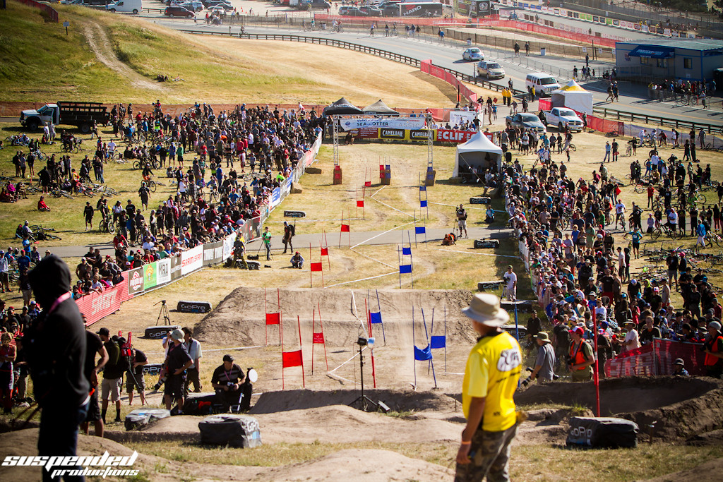 The Slalom Crowd Kept Getting Larger at Sea Otter - suspended-productions - Mountain Biking Pictures - Vital MTB