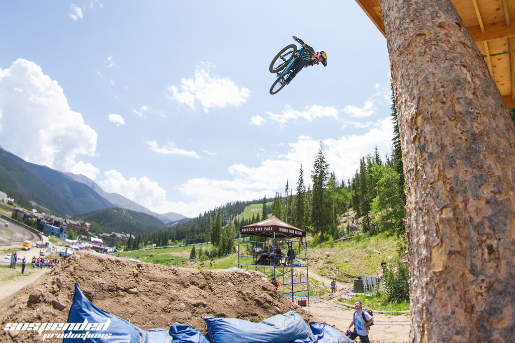 CFF Slopestyle Qualifying Photos - Anthony Messere 360 off the Whale Tail - suspended-productions - Mountain Biking Pictures - Vital MTB