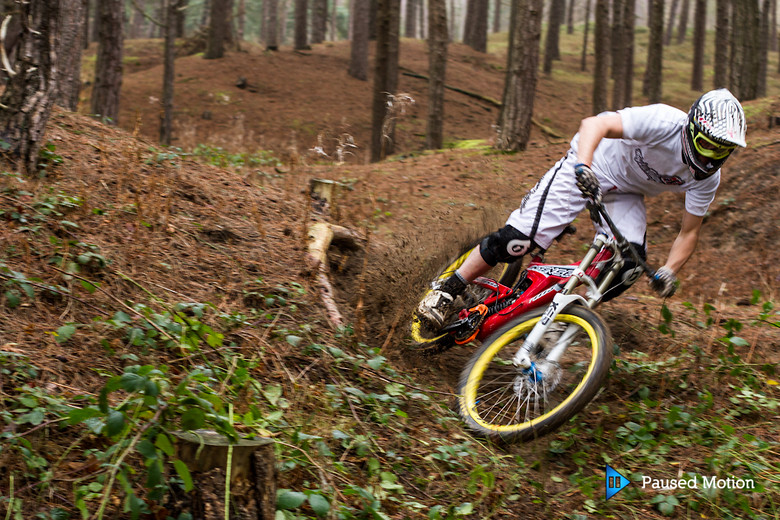 Pete ripping the sandy berm  - Cagphoto - Mountain Biking Pictures - Vital MTB