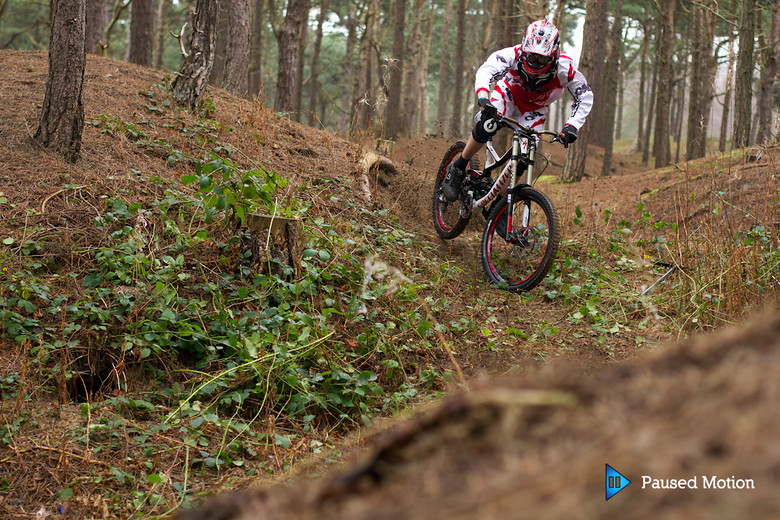 Cal ripping the sandy berm  - Cagphoto - Mountain Biking Pictures - Vital MTB