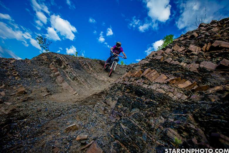 Shreddin down the quarry. - Hacz - Mountain Biking Pictures - Vital MTB