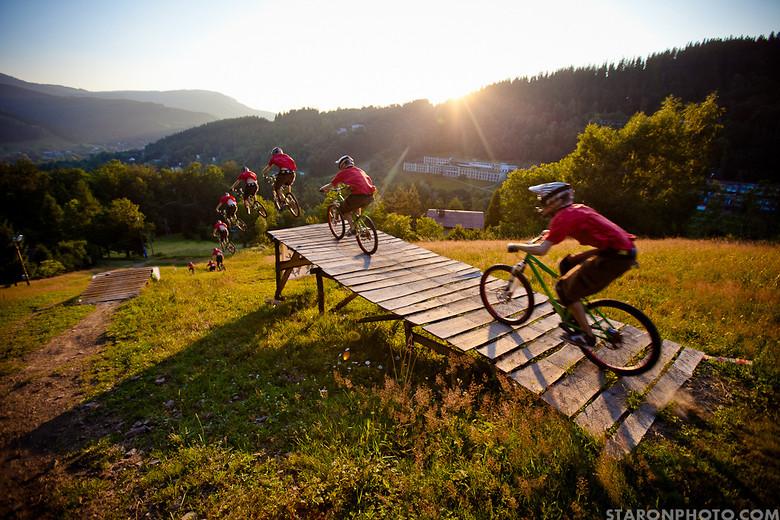 20m jump on HT bike, - Hacz - Mountain Biking Pictures - Vital MTB