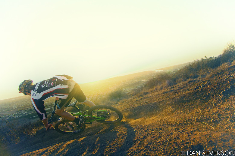 Evening trail shredding  - danseverson photo - Mountain Biking Pictures - Vital MTB