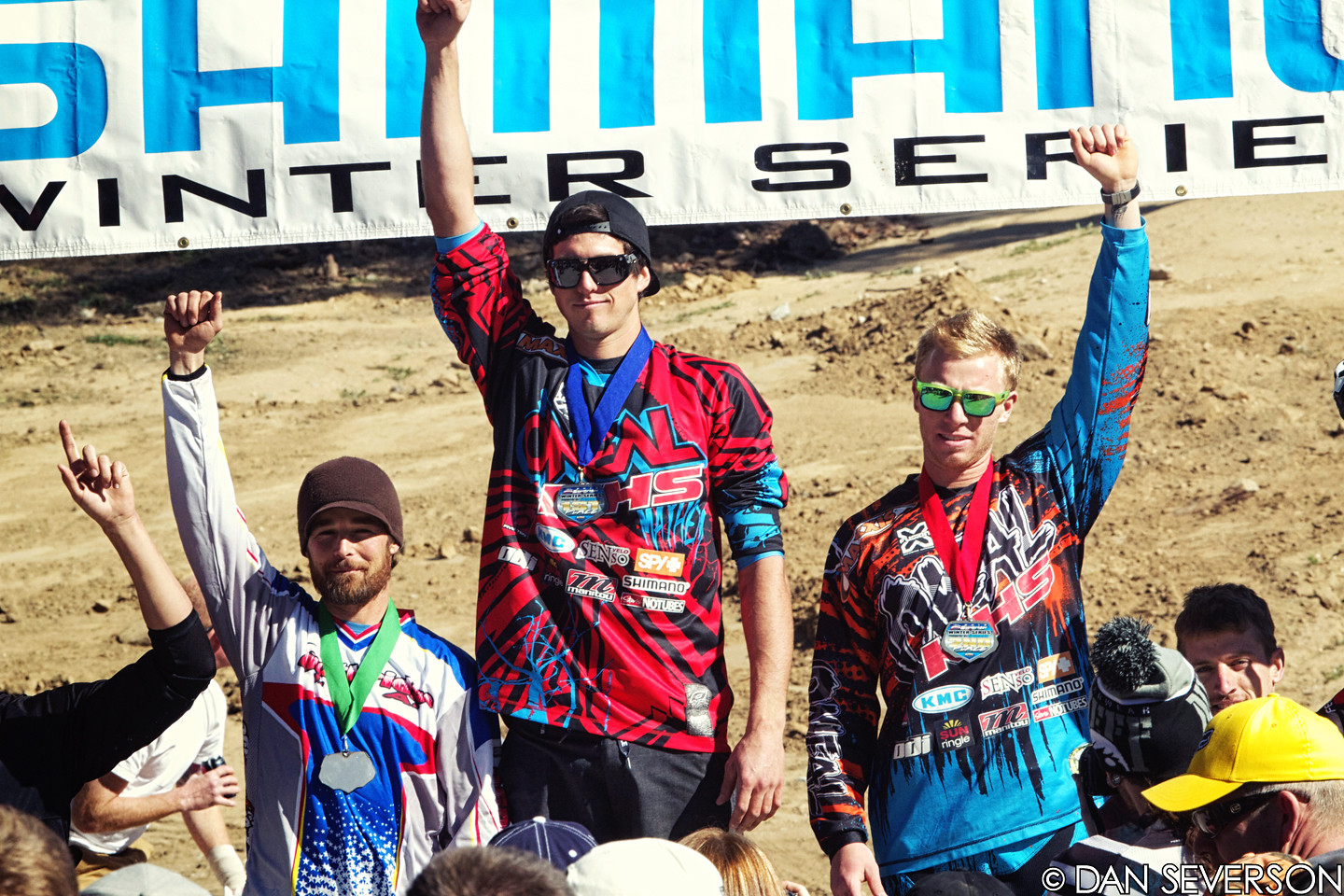 Pro Men's Podium at Fontana #4 - danseverson photo - Mountain Biking Pictures - Vital MTB