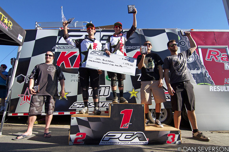 Podium from The Black Mountain Enduro - danseverson photo - Mountain Biking Pictures - Vital MTB