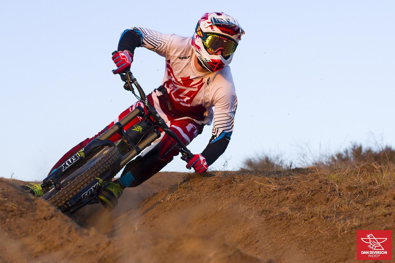 Adam Digby railing turns - danseverson photo - Mountain Biking Pictures - Vital MTB
