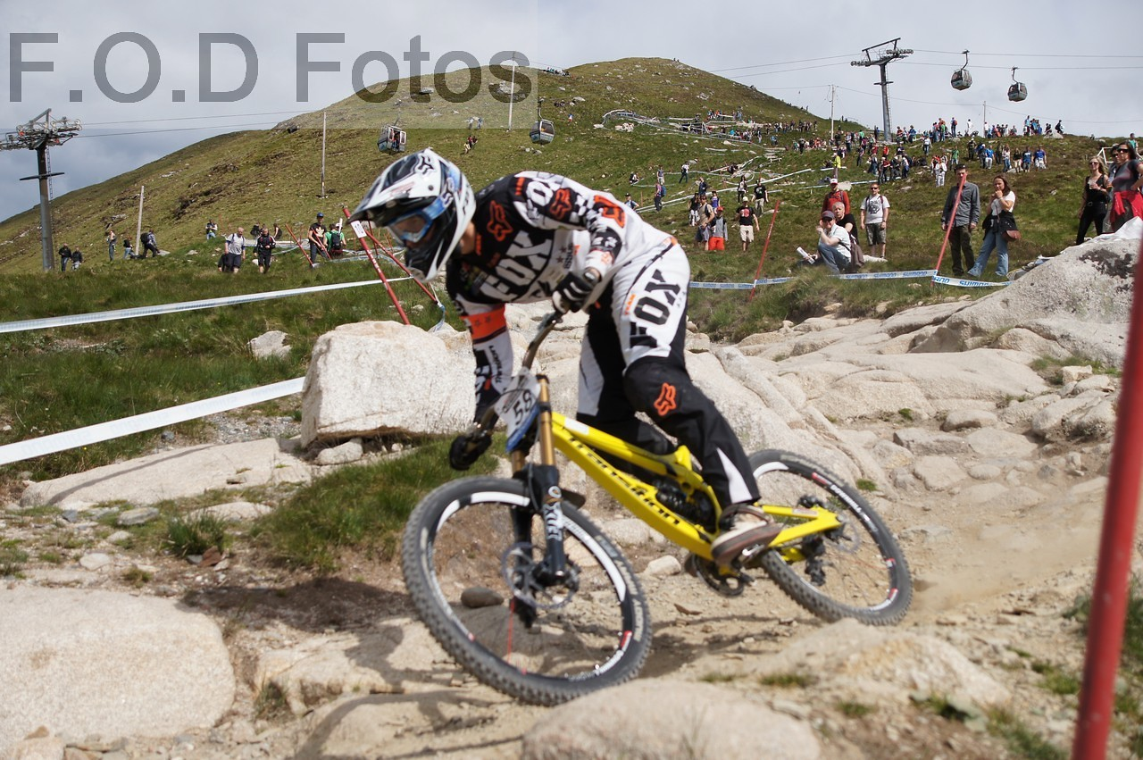 Sam Dale Fort William World Cup 2012 - Fodfotos - Mountain Biking Pictures - Vital MTB