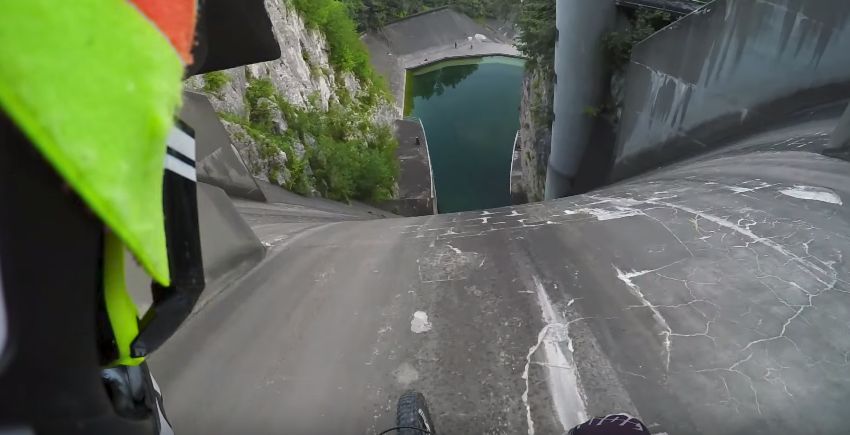 200-Foot Dam Drop-In - FredLikesTrikes - Mountain Biking ...
