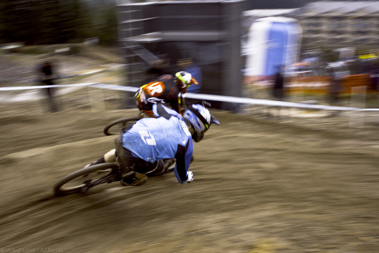 Cous Cous Knocking out Bernard Kerr - Crankworx Slalom 2013 - Mountain Biking Pictures - Vital MTB