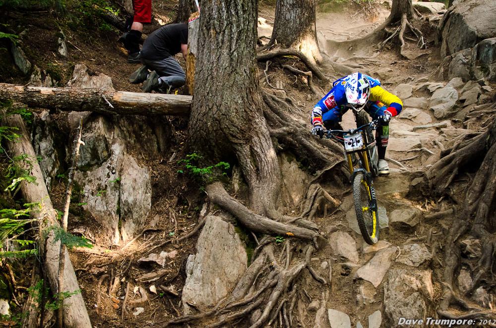 Marcelo Gutierrez, 2nd at Whistler Crankworx Garbanzo DH - Garbanzo DH from Crankworx - Mountain Biking Pictures - Vital MTB
