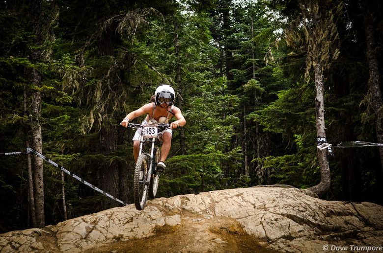 Loosing Your Coconuts in Crankworx Air DH - Crankworx Whistler Air DH - Mountain Biking Pictures - Vital MTB