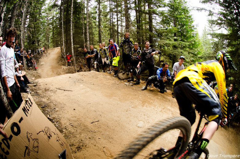 Troy Brosnan Too Close for Comfort at Crankworx Air DH - Crankworx Whistler Air DH - Mountain Biking Pictures - Vital MTB