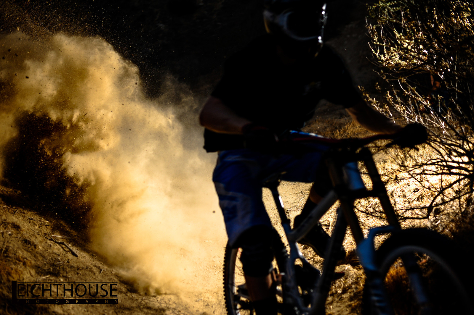 Mike Daniels berm explosion  - LeichtHouse photography - Mountain Biking Pictures - Vital MTB