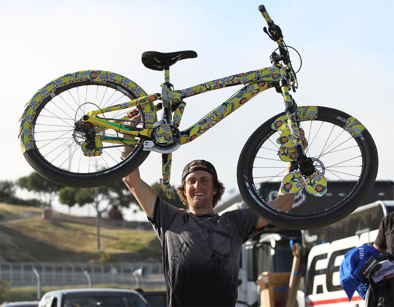 Tyler McCaul Victorious - Cam McCaul's Bike Sticker Bomb - Mountain Biking Pictures - Vital MTB