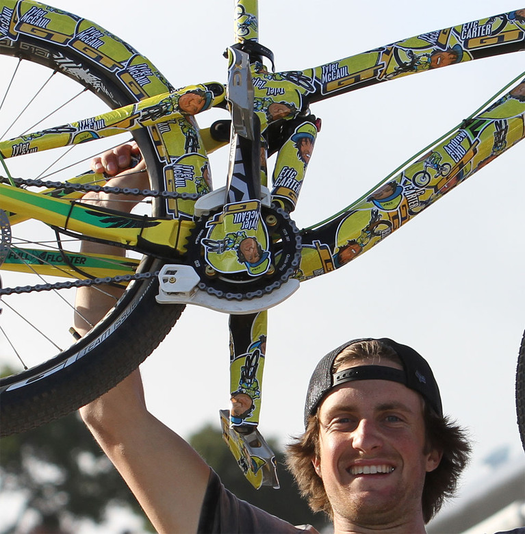 Cams McCaul Trek Slopestyle Prototype Vinyl Wrap Cam McCauls - Vinyl bike wrap