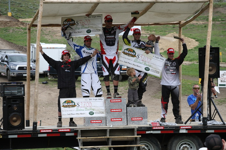 Triple DHip Pro Men's Podium - Greg Minnaar wins $7600 at the Triple DHip - Mountain Biking Pictures - Vital MTB