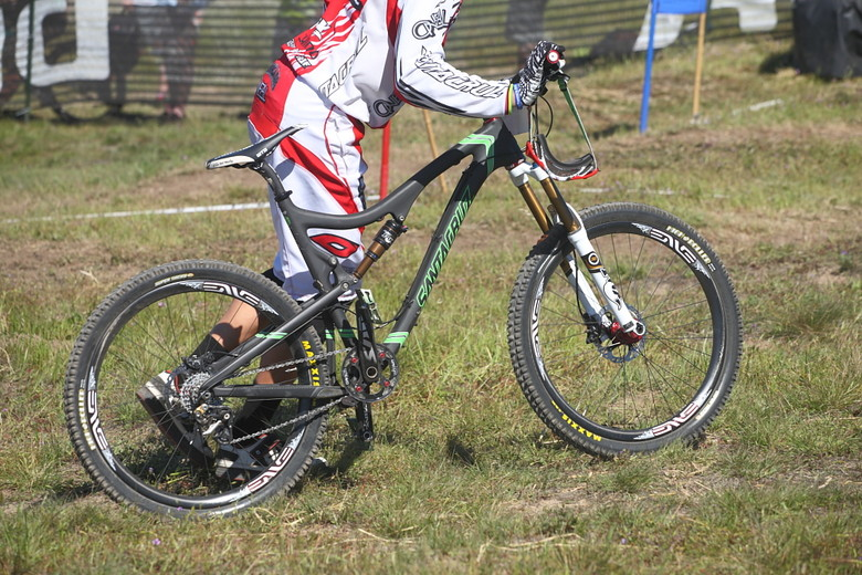 Greg Minnaar's Santa Cruz Blur TRc - Pro Dual Slalom Bikes at Sea Otter 2012 - Mountain Biking Pictures - Vital MTB