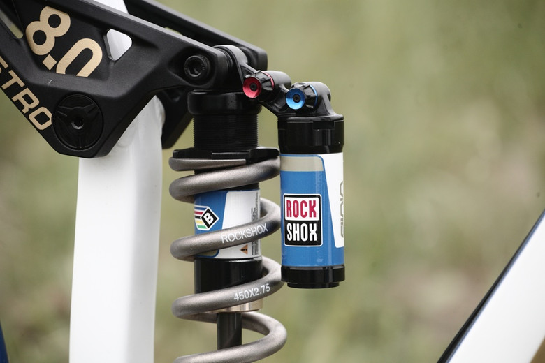Prototype RockShox BlackBox Vivid Coil Shock - Andrew Neethling's 2012 Giant Glory and Reign Bikes - Mountain Biking Pictures - Vital MTB