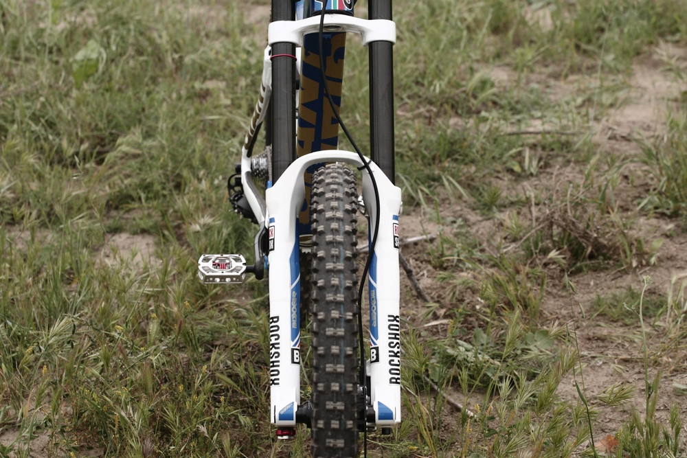 BoXXer with Proprietary Stanchion Coating - Andrew Neethling's 2012 Giant Glory and Reign Bikes - Mountain Biking Pictures - Vital MTB