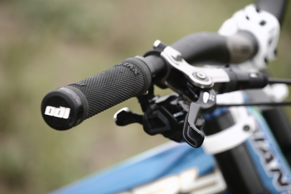 Brakes and Bar Roll are Important to Neethling - Andrew Neethling's 2012 Giant Glory and Reign Bikes - Mountain Biking Pictures - Vital MTB