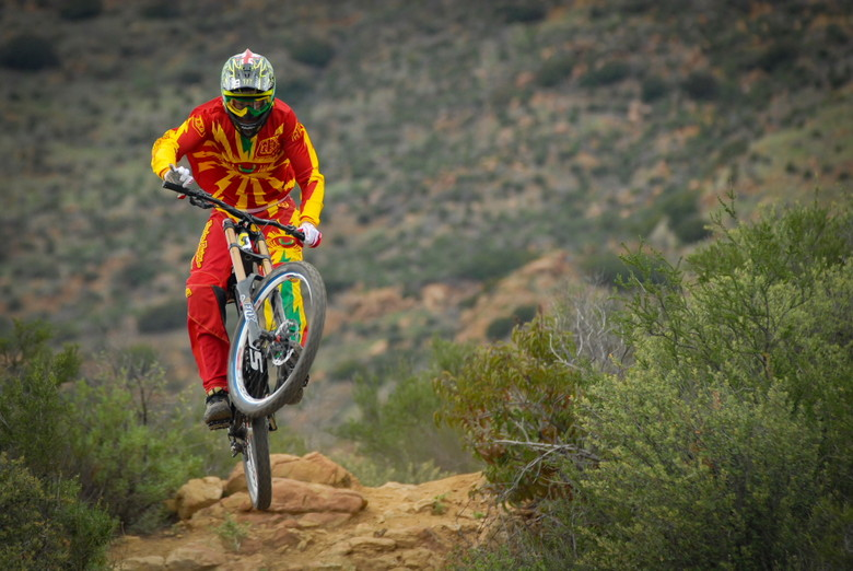 One hander? - Brendan Fairlcough Riding in 2013 Troy Lee Gear - Mountain Biking Pictures - Vital MTB