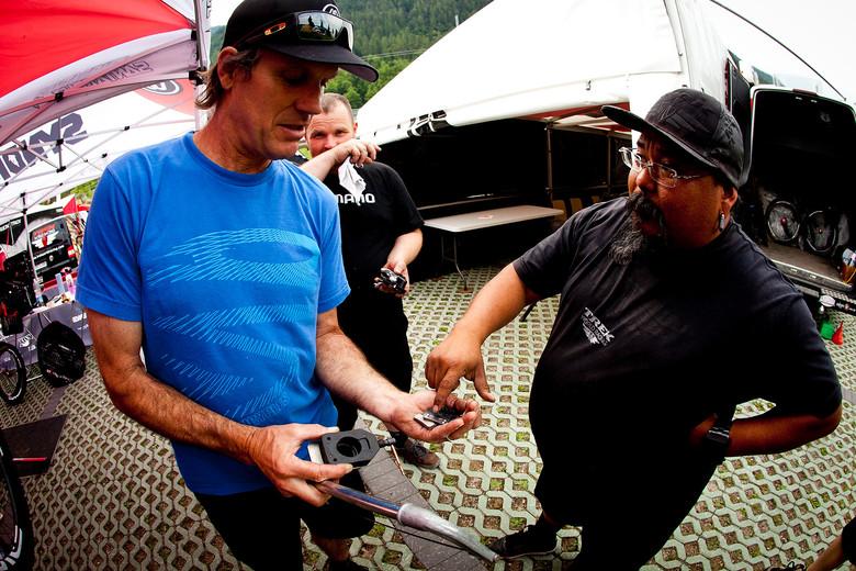 Mechanics Brotherhood with Monk and Doug Hatfield - 2012 UCI World Cup, Val di Sole Day 1 - Mountain Biking Pictures - Vital MTB