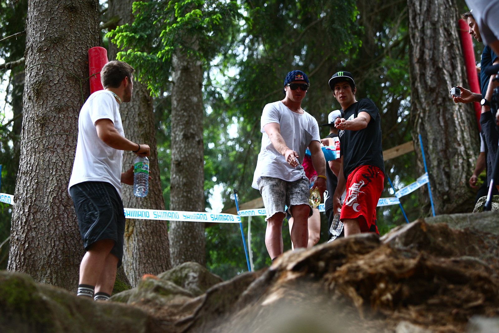 Brook MacDonald and Josh Bryceland Track Walk - 2012 UCI World Cup, Val di Sole Day 1 - Mountain Biking Pictures - Vital MTB