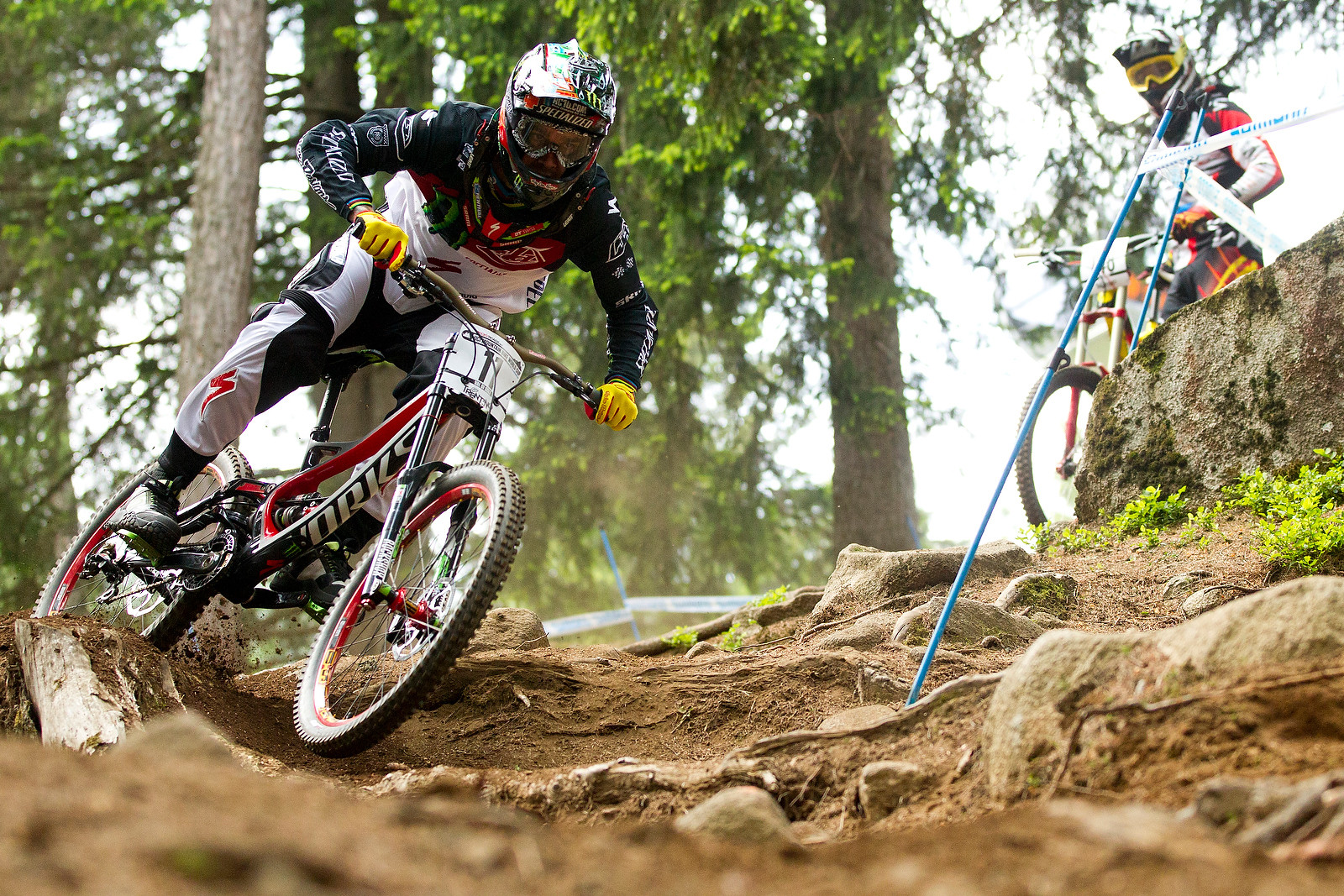 Sam Hill on the new S-Works Demo at Val di Sole - 2012 UCI World Cup, Val di Sole Day 2 - Mountain Biking Pictures - Vital MTB
