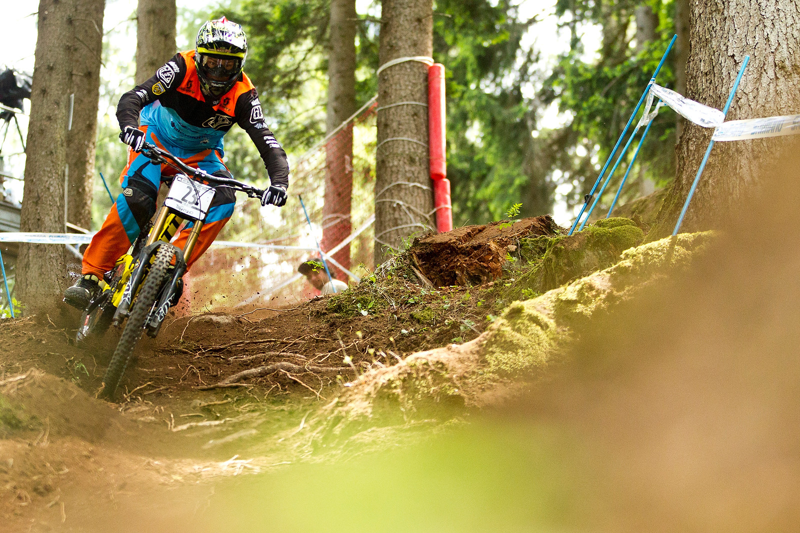 Brendan Fairclough Roosting at Val di Sole - 2012 UCI World Cup, Val di Sole Day 2 - Mountain Biking Pictures - Vital MTB